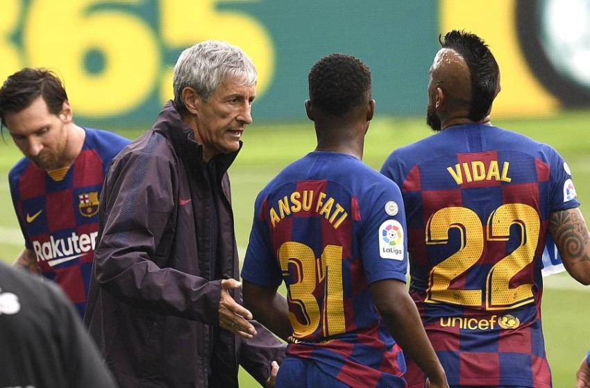 مدرب برشلونة كيكي سيتين. (غيتي)