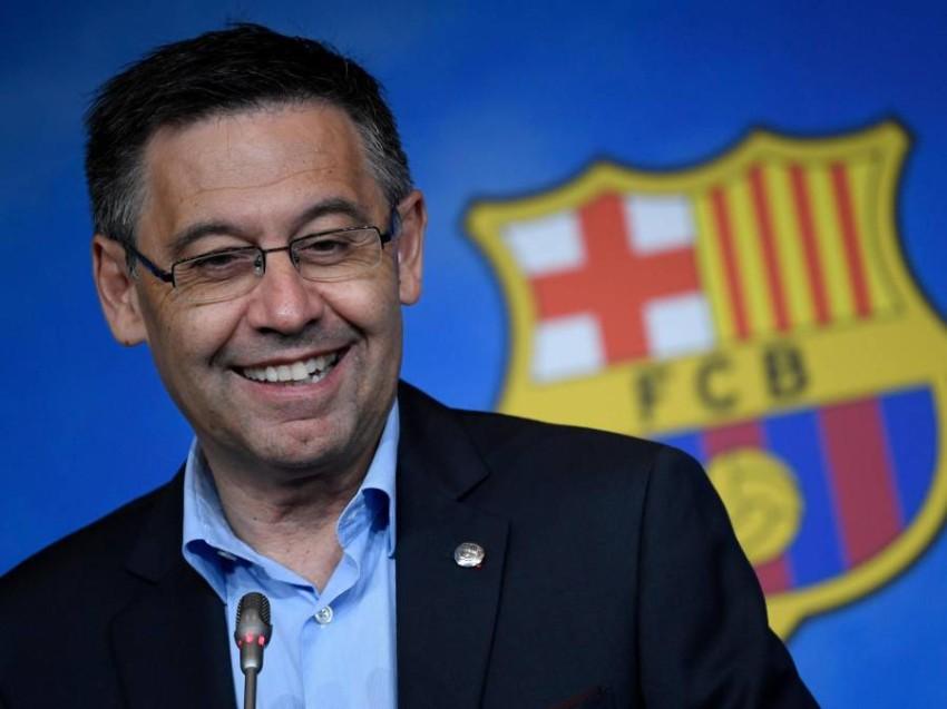 رئيس نادي برشلونة بارتوميو. (رويترز)