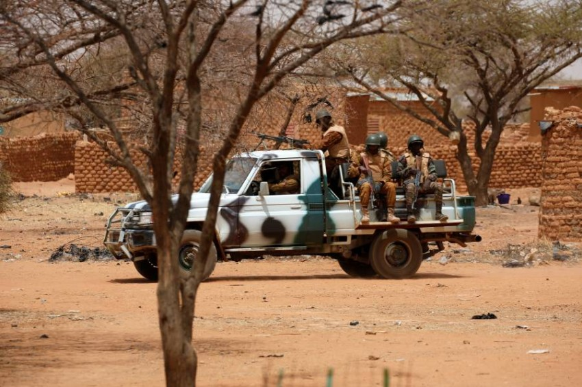 دورية لجيش بوركينا فاسو. (رويترز)
