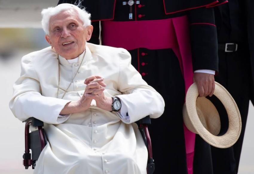 بابا الفاتيكان السابق. (أ ف ب)