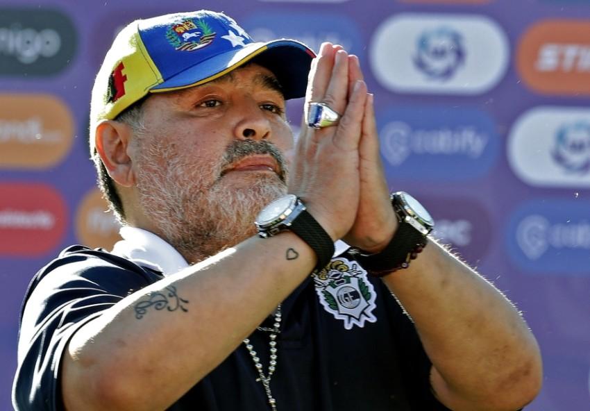 دييغو أرماندو مارادونا. (أ ف ب)
