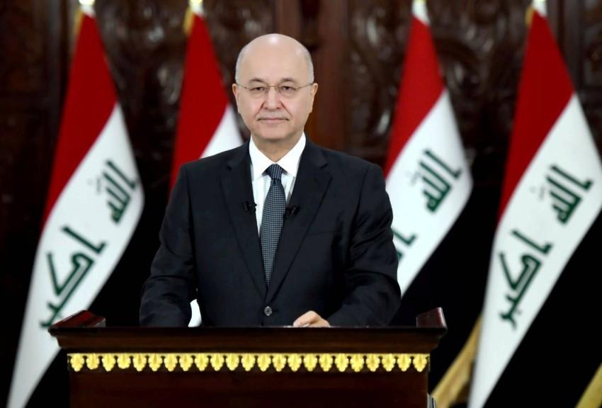 الرئيس العراقي برهم صالح. (رويترز)