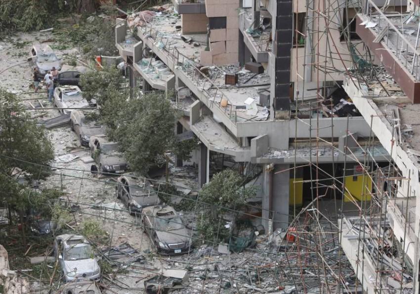 آثار الدمار الهائل في بيروت المنكوبة. (رويترز)