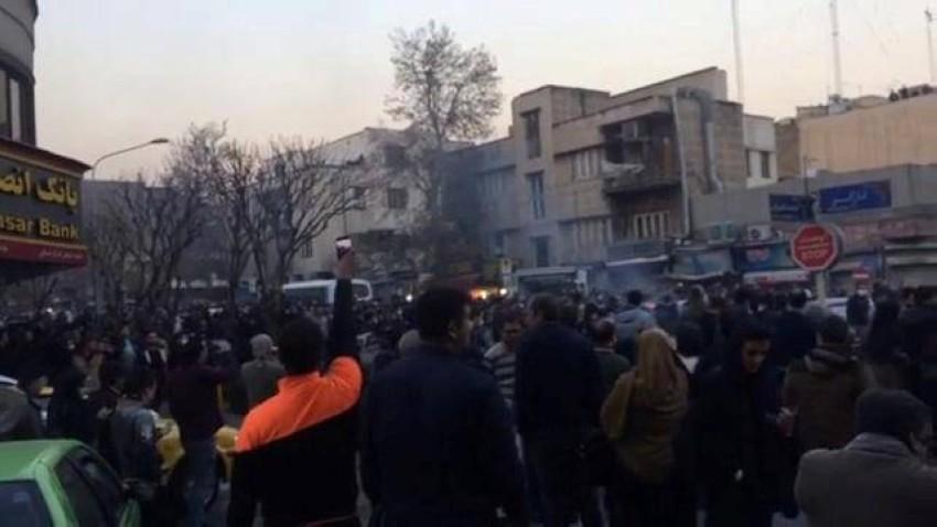 جانب من احتجاجات إيران. (رويترز - أرشيفية)