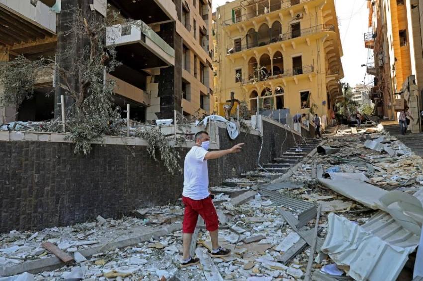 صدمة في لبنان. (أ ف ب)