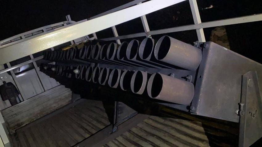 شاحنة مزودة بقاذفة صواريخ كاتيوشا في العراق. (رويترز)
