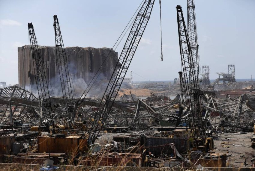 آثار الدمار الذي خلفه انفجار بيروت. (أ ب)