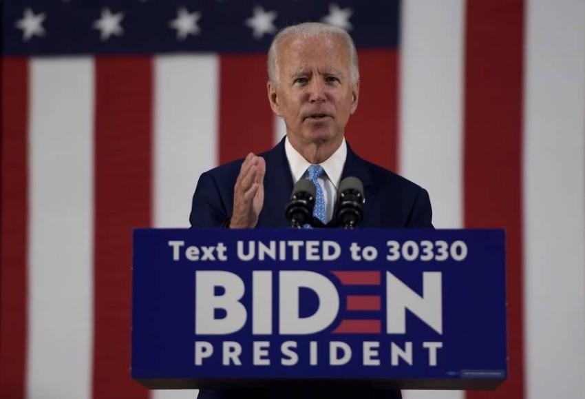 المرشح المحتمل للحزب الديمقراطي الأمريكي جو بايدن. (أ ف ب)