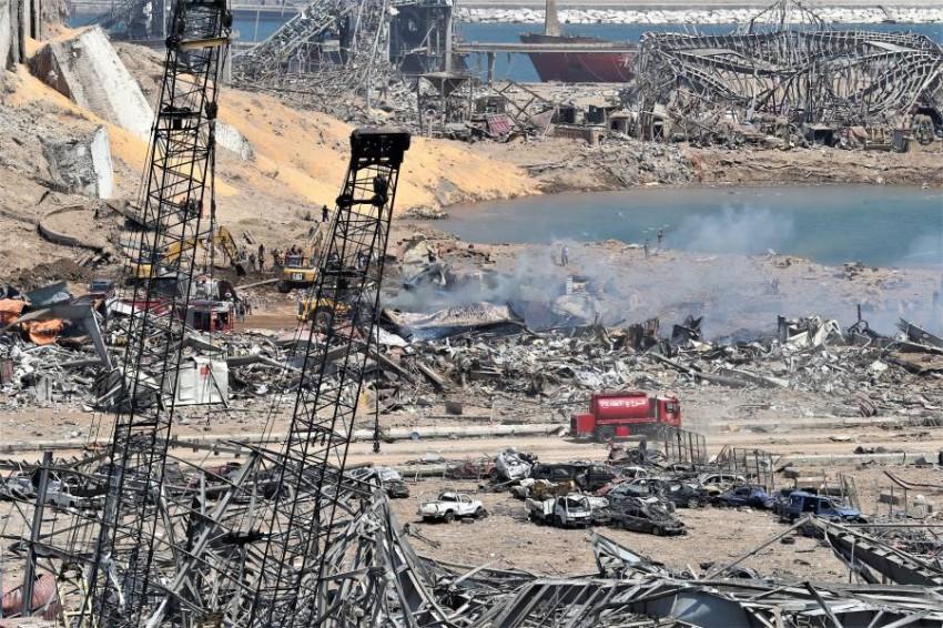 آثار الدمار الذي خلفه انفجار بيروت. (إي بي أيه)