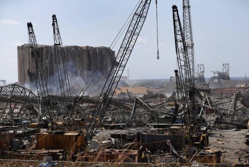 آثار الدمار الذي خلَّفه انفجار بيروت. (أ ب)