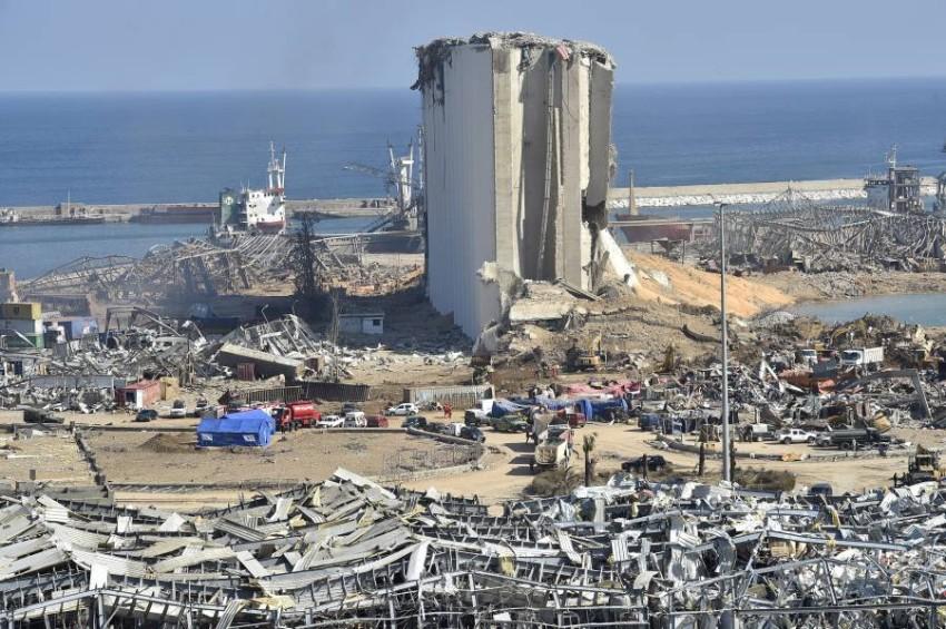 آثار الدمار في مرفأ بيروت. (إي بي أيه)