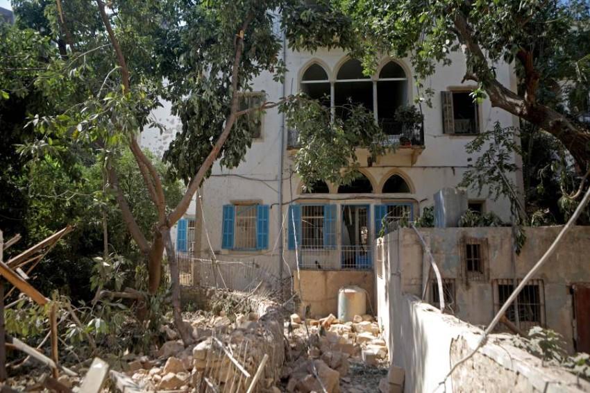 واحد من آلاف المنازل التي دمرت بفعل الانفجار. (أ ف ب)