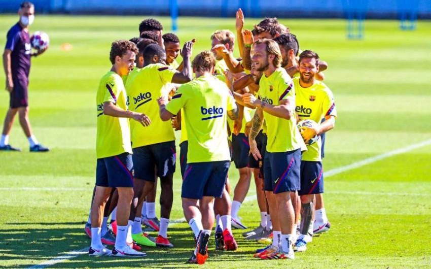 من تدريبات برشلونة. (من المصدر)