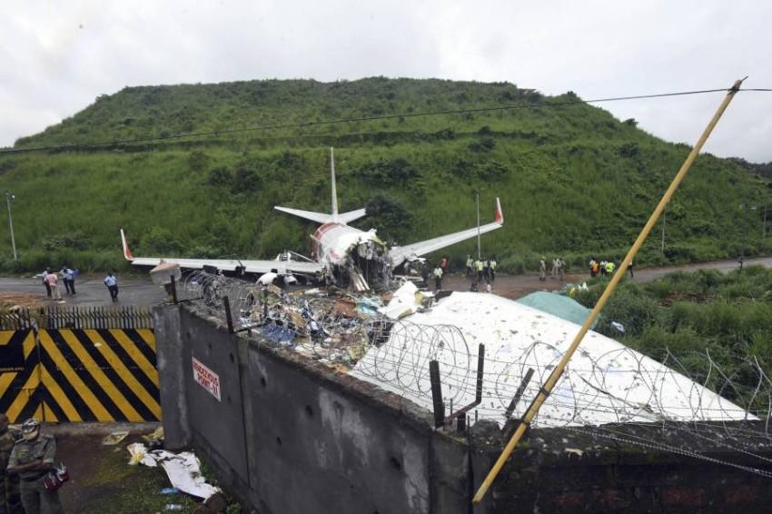 حطام الطائرة الهندية. (أ ب)