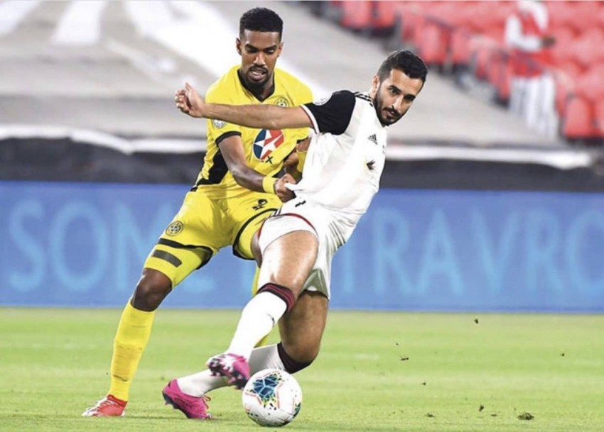 حمدان ناصر بقميص اتحاد كلباء. (الرؤية)