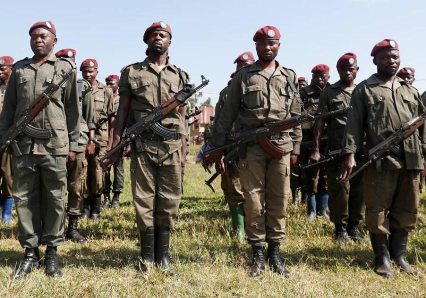 جنود بجيش الكونغو الديمقراطية. (رويترز)