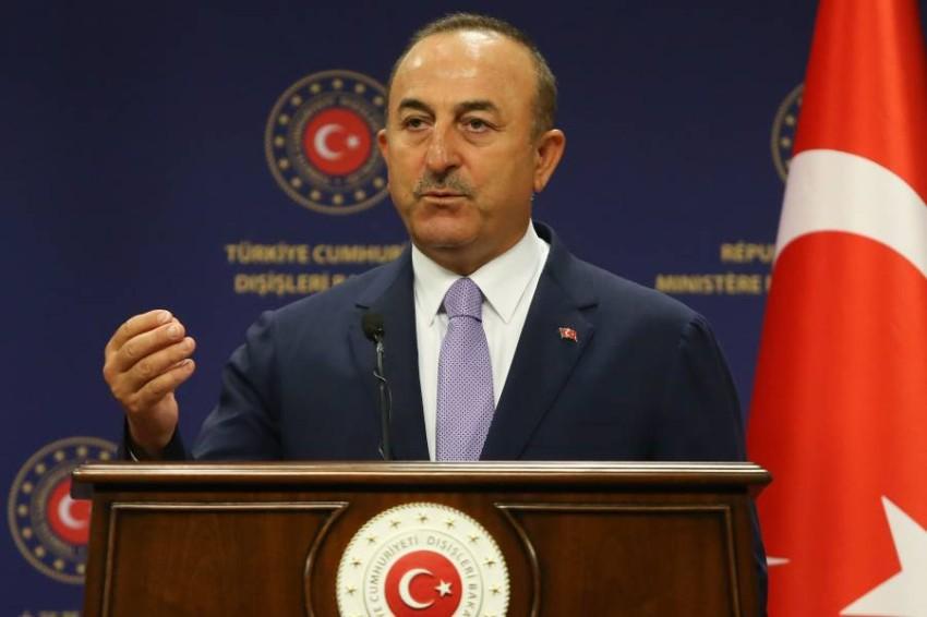 وزير الخارجية التركي مولود تشاووش أوغلو. (أ ف ب)