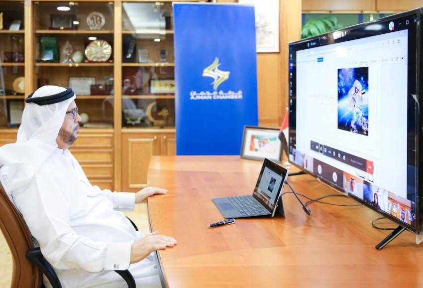عبدالله المويجعي خلال الجلسة. (وام)