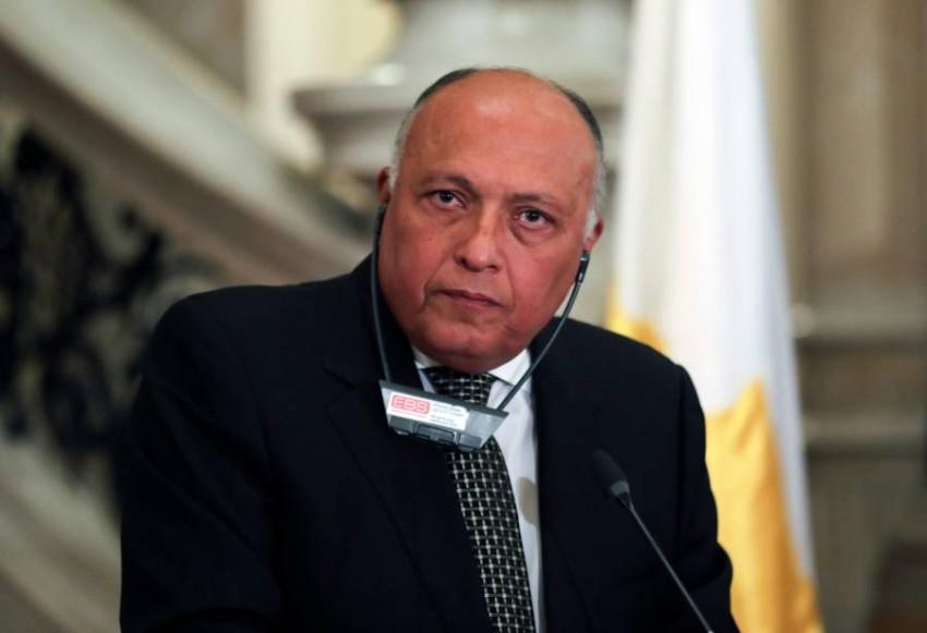 وزير الخارجية المصري سامح شكري. (رويترز)