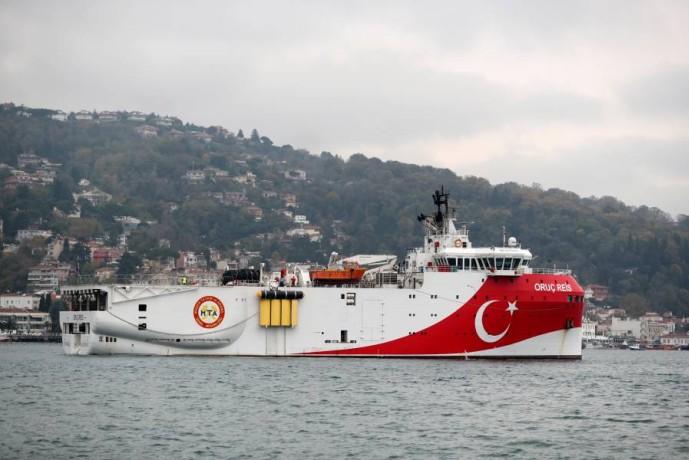 السفينة التركية عروج ريس. (إي بي أيه)