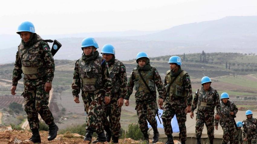 أصحاب القبعات الزرقاء في لبنان. (أ ف ب)