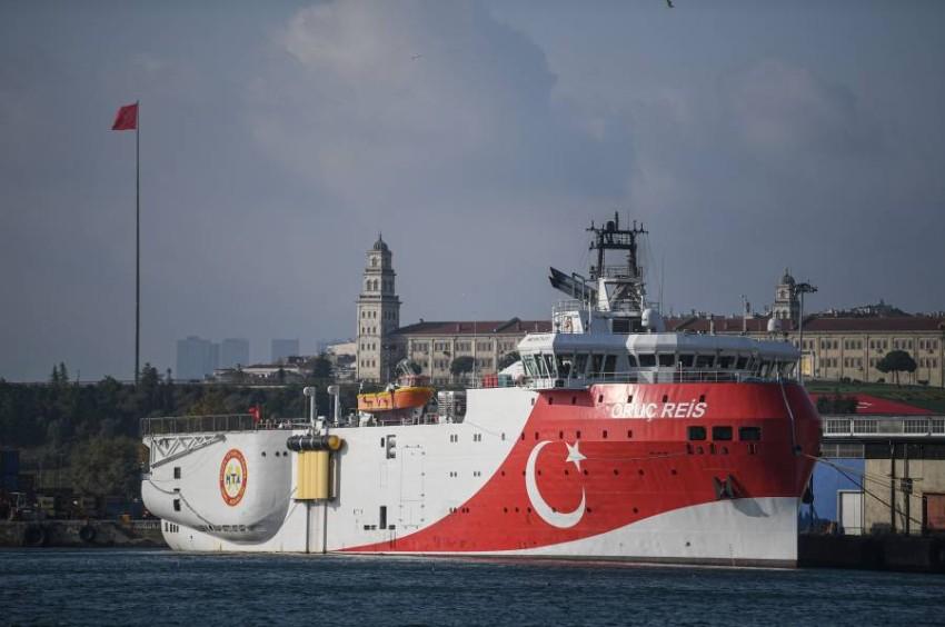 سفينة التنقيب التركية. (أ ف ب)