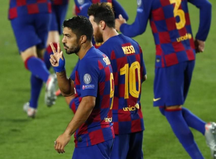 فريق برشلونة. (AP)