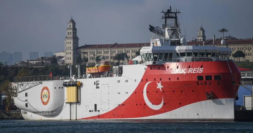 سفينة التنقيب التركية عروج ريس. (أ ف ب)