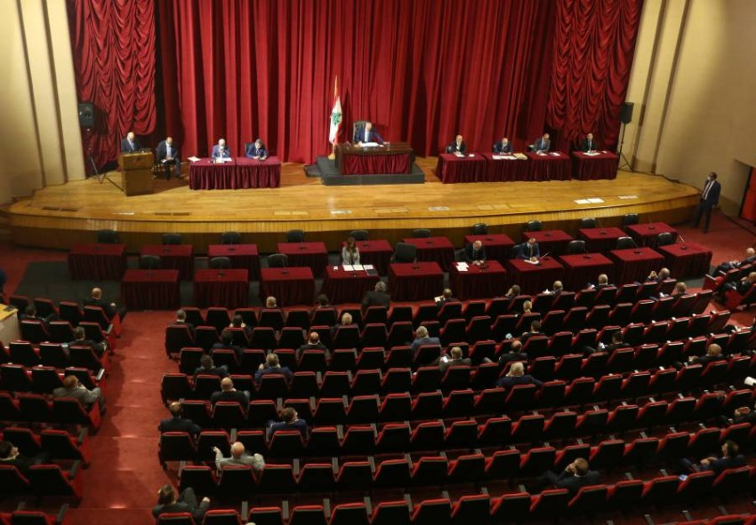 بري يترأس جلسة البرلمان. (رويترز)