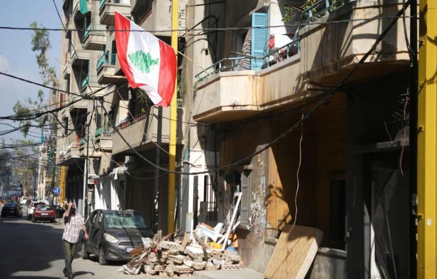 بيروت المنكوبة. (أ ف ب)