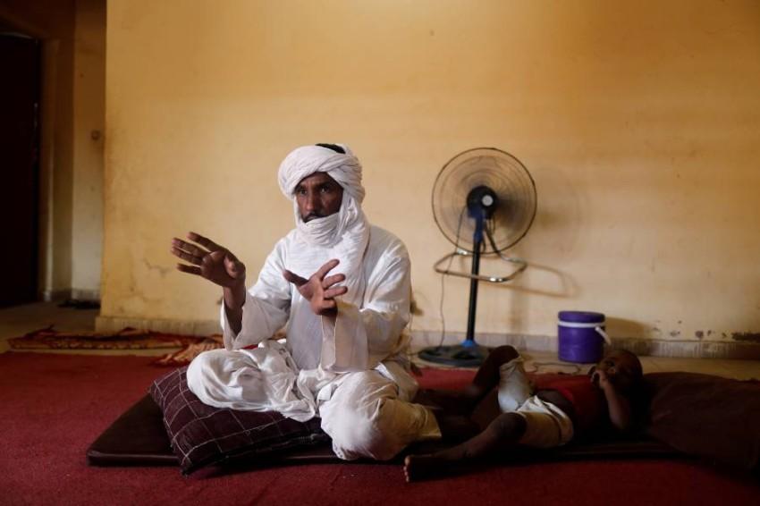 الجيتيج محمد في نيامي. (رويترز)
