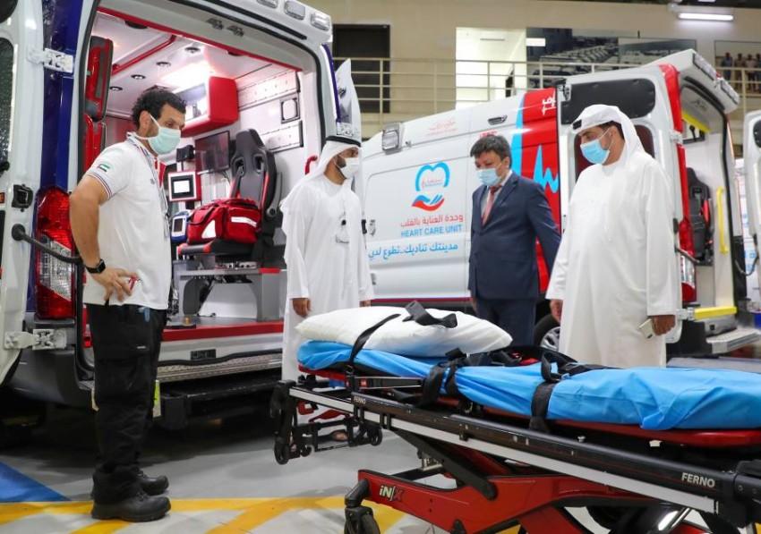 قنصل قيرغيزستان يشيد بمستوى الخدمات في «إسعاف دبي». (وام)