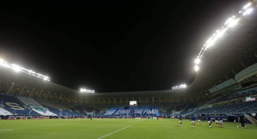 صورة من إحدى مباريات الدوري السعودي. (إ ب أ)