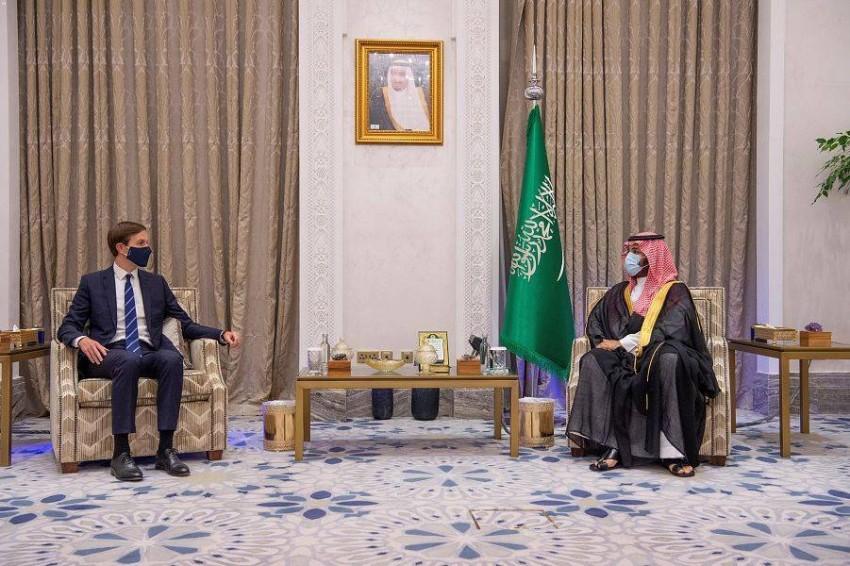 ولي العهد السعودي يستقبل كوشنر. (واس)
