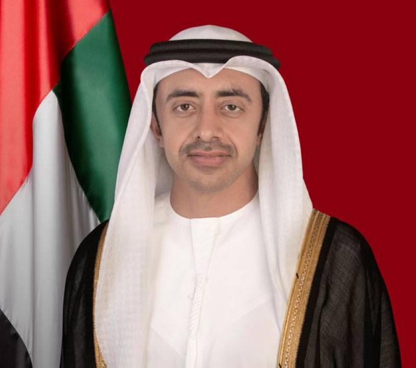 سمو الشيخ عبدالله بن زايد آل نهيان وزير الخارجية والتعاون الدولي. (أرشيفية)
