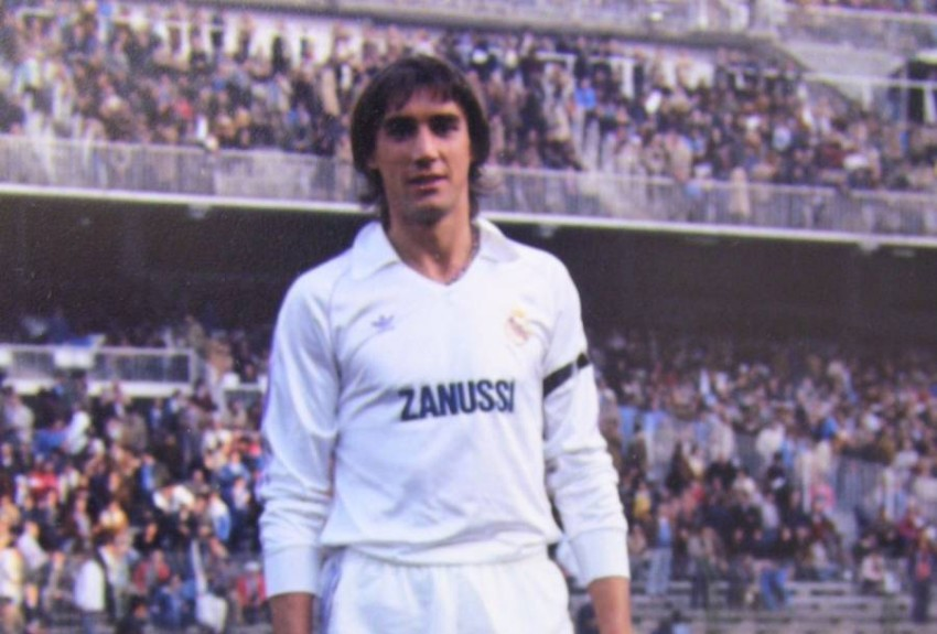 لاعب ريال مدريد ميغيل آنغل في الثمانينات.( أ ف ب)