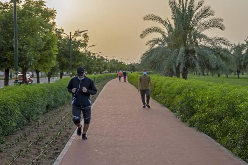 ممشئ حديقة الصفية بعجمان. (تصوير: عماد علاءالدين)
