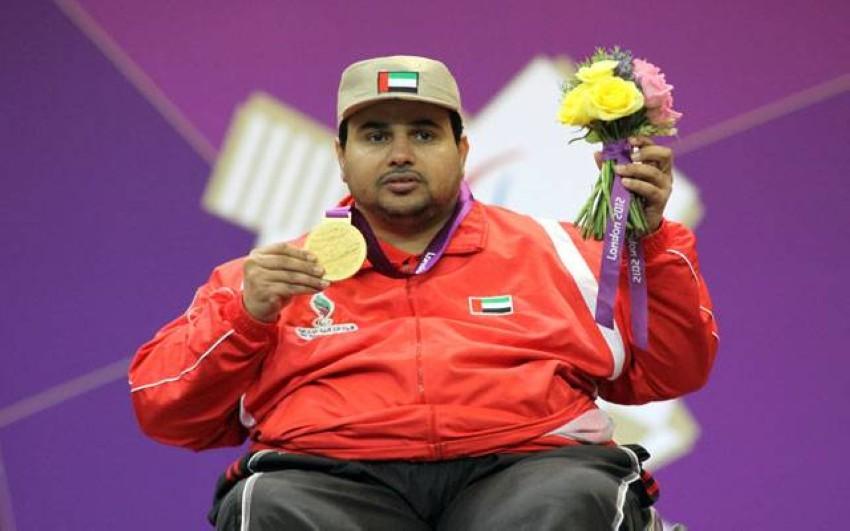 العرياني متوجاً بذهبية أولمبياد لندن في 2012. (من المصدر)