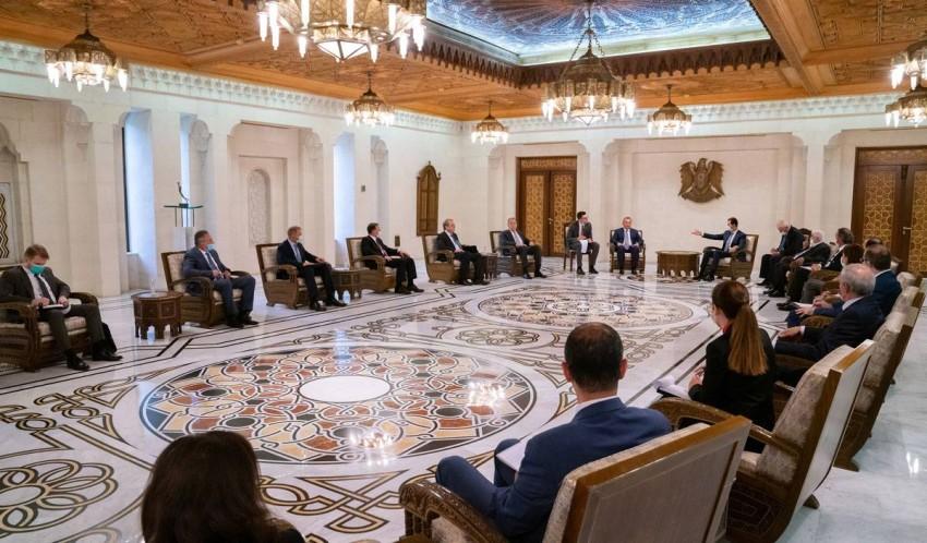 مباحثات سورية روسية في دمشق. (سانا)