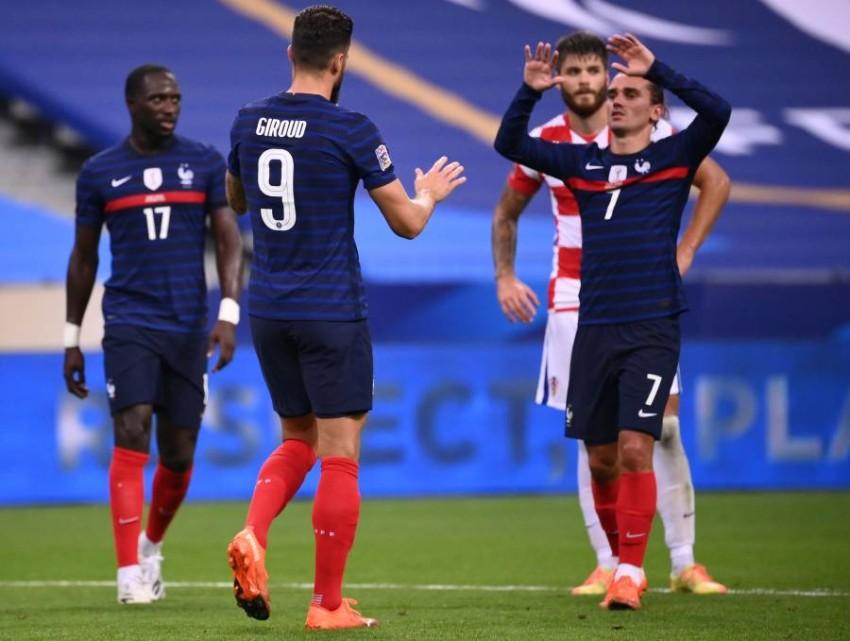 فرحة لاعبي فرنسا. (أ ف ب)