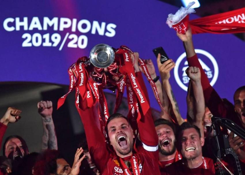 ليفربول بطل النسخة الماضية في الدوري الإنجليزي. (أ ف ب)