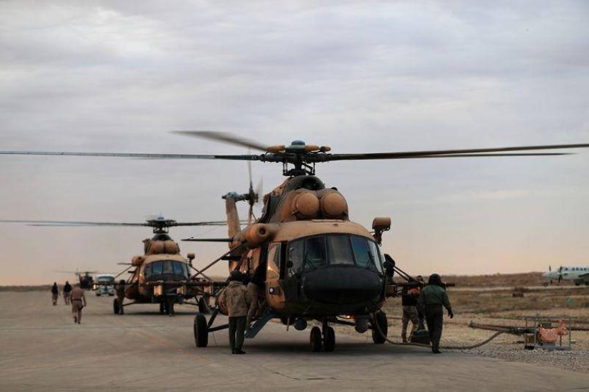 طائرات هليكوبتر تابعة لسلاح الجو العراقي. (أرشيف ـ رويترز)