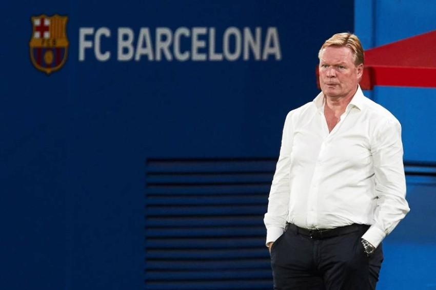 رونالد كومان مدرب برشلونة. (إ ب أ)