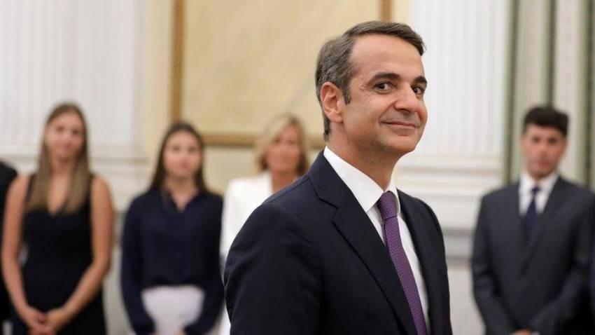 رئيس وزراء اليونان، كيرياكوس ميتسوتاكيس - أ ف ب