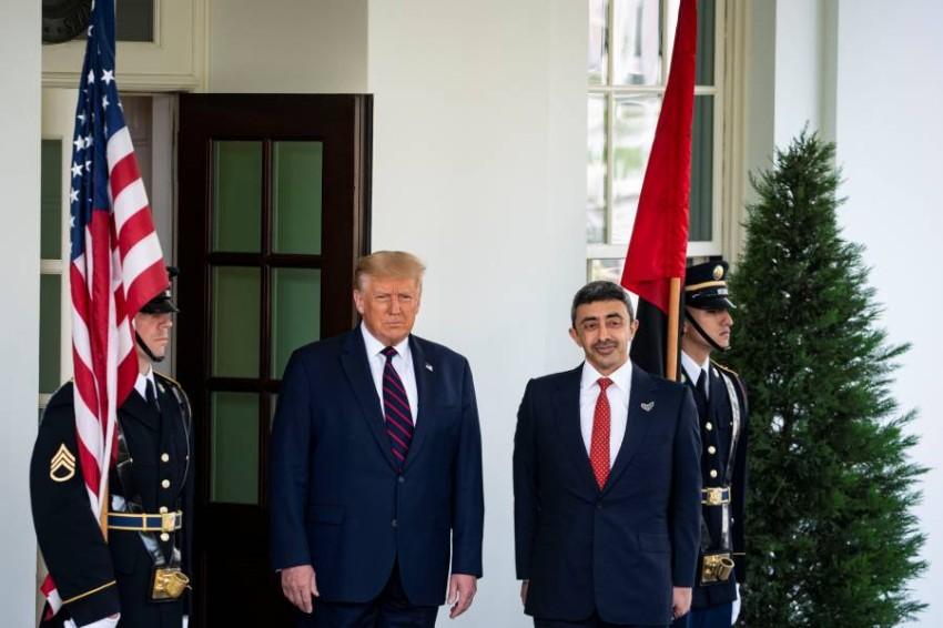 وصول الوفد الإماراتي للبيت الأبيض لحضور مراسم توقيع معاهدة السلام أخبار صحيفة الرؤية