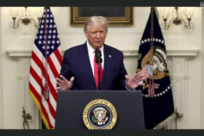 ترامب: اتفاقيات السلام الرائدة بمثابة الفجر لشرق أوسط جديد - أ ف ب