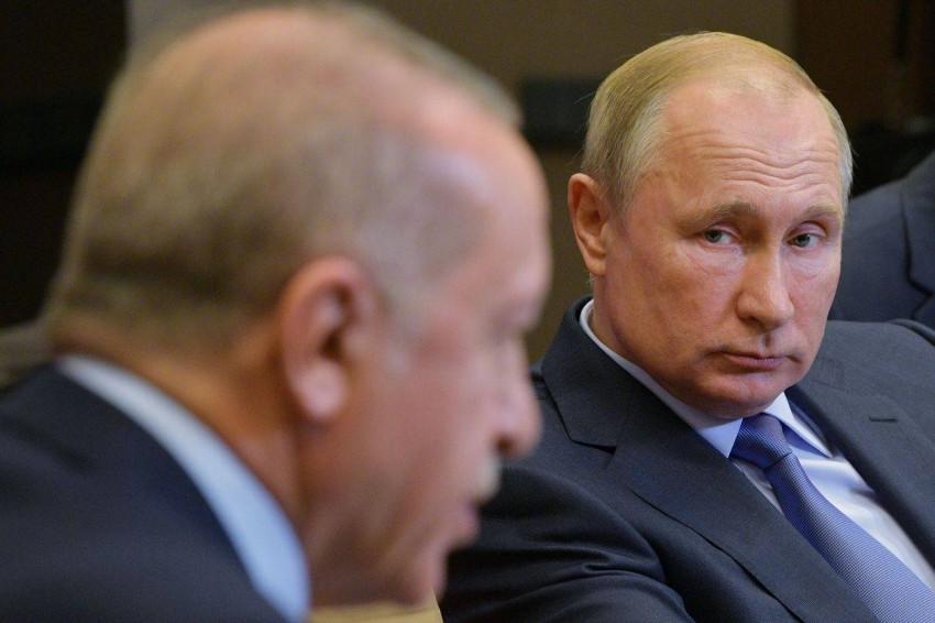 بوتين وأردوغان. (رويترز)