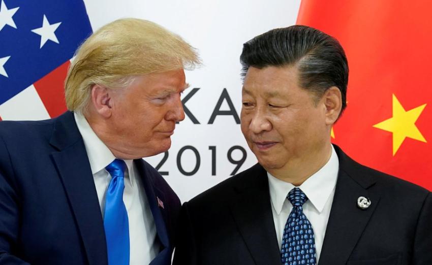 الرئيسان الصيني والأمريكي. (رويترز)