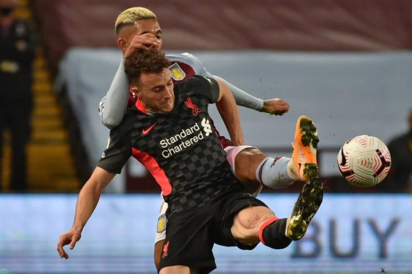 من مباراة ليفربول وأستون فيلا. (AFP)