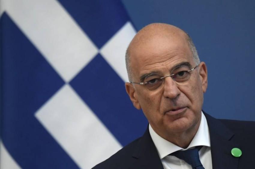 وزير الخارجية اليوناني. (أ ف ب)
